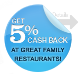 PERKSTREET 5% CASH BACK RESTAURANTS IN JUNE
