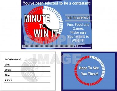Minute To Win It Invitation Template Best Custom Invitation