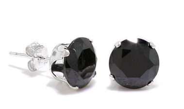 DARCUS TORI: 100% OFF ROUND BLACK ONYX STUD EARRINGS