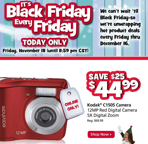 OFFICEMAX BLACK FRIDAY EVERY FRIDAY – KODAK 12MP CAMERA just $44.99 TODAY ONLINE ONLY