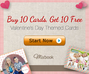 MIXBOOK COUPON CODE DEAL – BOGO 10 FREE CARDS – VALENTINES PROMO