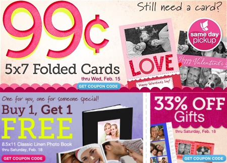 PHOTO DEALS AT WALGREENS 2/12 – 2/18 COUPON CODES – BOGO FREE PHOTO BOOKS + MORE