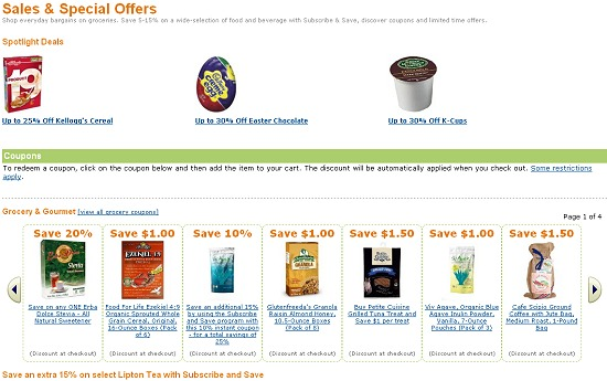 AMAZON GLUTEN FREE GROCERY DEALS LIST 4-27-2012