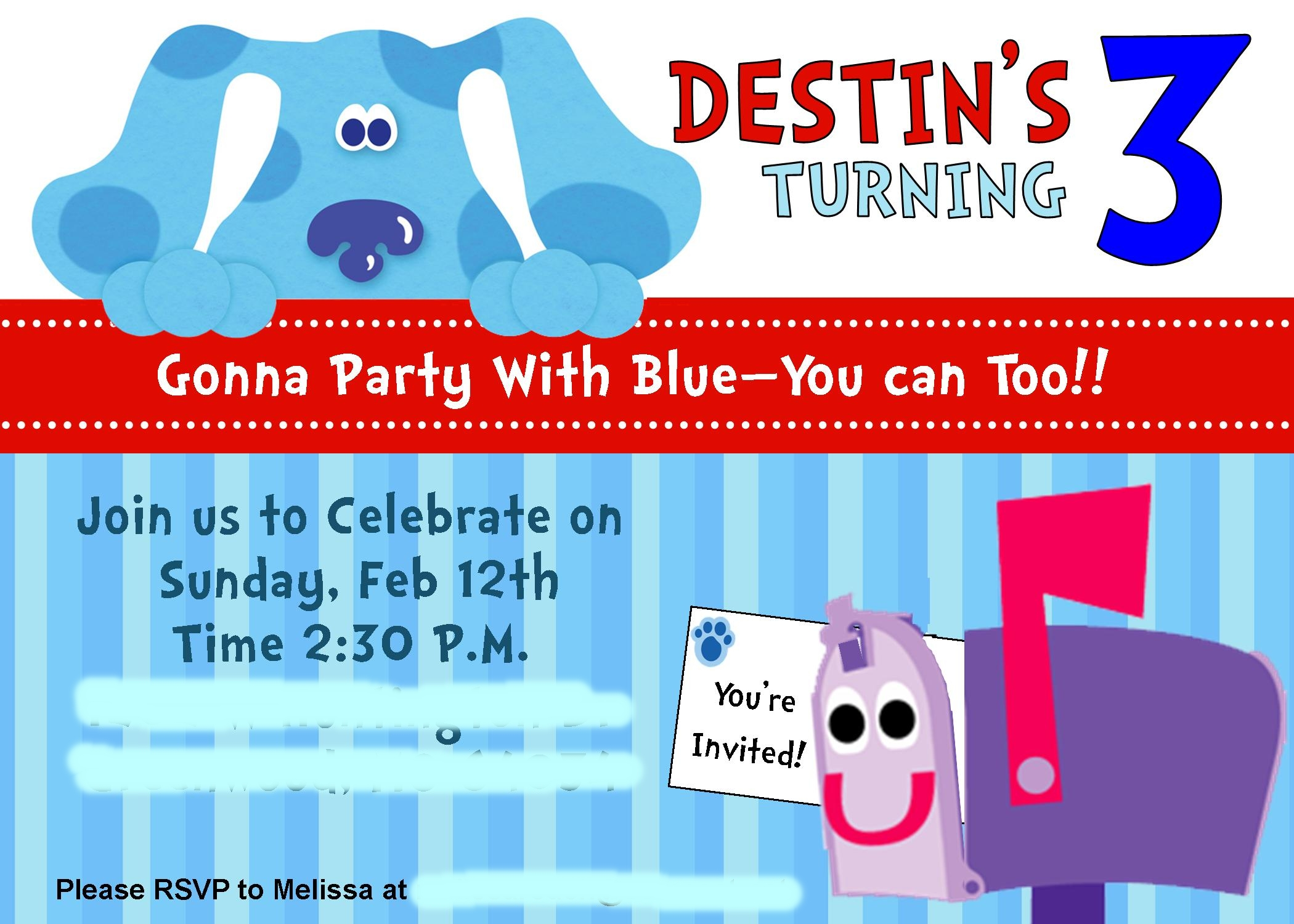 PRODUCT REVIEW: PERSONALIZED PRINTABLE BLUES CLUES PARTY KIT ...