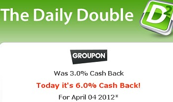 GROUPON CASH BACK DOUBLED + FREE $10 GIFT CARD – TODAY ONLY