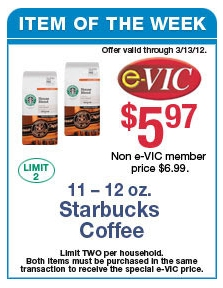 STARBUCKS PRINTABLE COUPON + HARRIS TEETER DEALS + COUPON SCENARIO