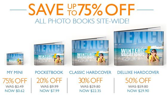 MYPUBLISHER COUPON CODE: 75% OFF ALL PHOTO BOOKS