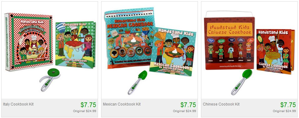 TOTSY: HANDSTAND KID COOKBOOK KITS STARTING AT just $7.75