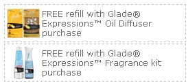 BOGO GLADE PRINTABLE COUPONS – 2 BOGO FREE GLADE EXPRESSIONS COUPONS