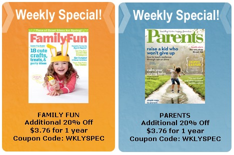 MAGAZINE DEALS THIS WEEK 4/2 – 4/8 COUPON CODES – DISNEY FAMILY FUN – PARENTS + MORE just $3.76