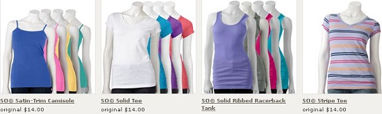 KOHLS STACKED COUPON CODES = CAMISOLES & TEES just $4 SHIPPED