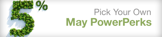 PERKSTREET POWERPERKS for MAY – 5% CASH BACK – PICK YOUR RETAILERS NOW