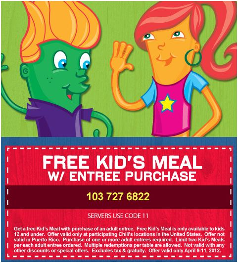 KIDS EAT FREE AT CHILIS {APRIL 23RD – 25TH}