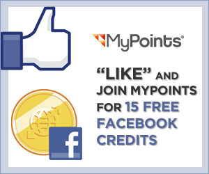 15 FREE FACEBOOK CREDITS – STILL AVAILABLE!