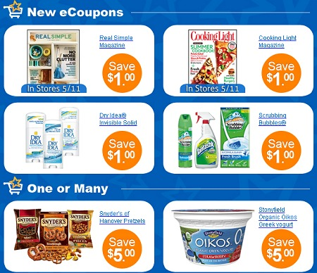 NEW SAVINGSTAR eCOUPONS LIST – DIGITAL MANUFACTURER + STORE COUPONS