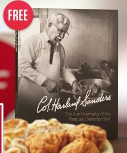 FACEBOOK FREEBIE: FREE eBOOK – COLONEL SANDERS BIO + RECIPES
