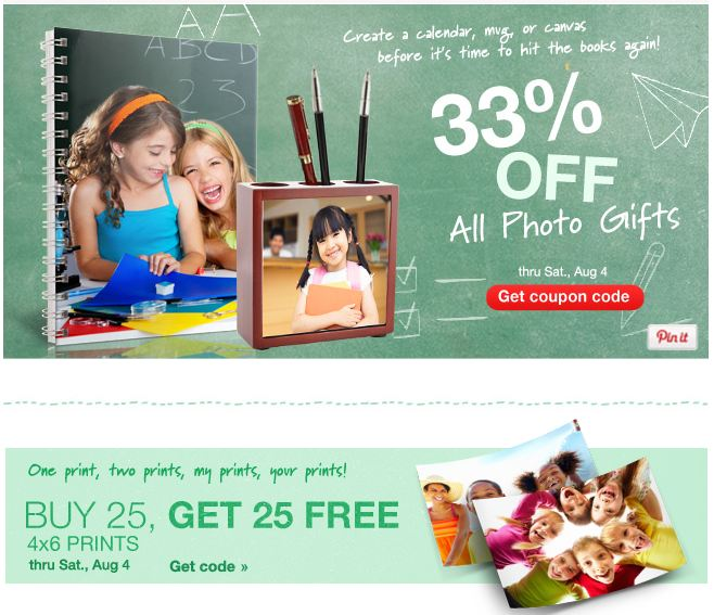 WALGREENS PHOTO DEALS + COUPON CODE LIST THIS WEEK 7-29 thru 8-4
