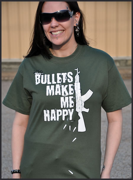 BULLETS MAKE ME HAPPY T-SHIRT REVIEW