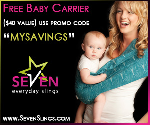 FREE SEVEN SLINGS BABY CARRIER – JUST PAY SHIPPING AND HANDLING!