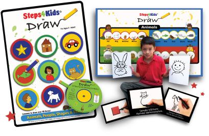 STEPS 4 KIDS DRAWING DVD REVIEW