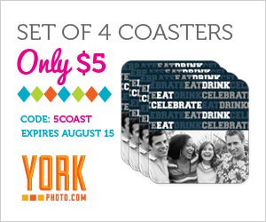 YORK PHOTO COUPON CODES $5 CUSTOM PHOTO COASTERS + 40 FREE PRINTS