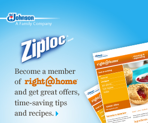 RIGHT AT HOME PRINTABLE COUPONS + FREEBIES – ZIPLOC + SC JOHNSON BRAND PRODUCTS