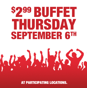 CICI'S PIZZA GUEST APPRECIATION DAY 9-6-2012 ~ EAT FOR JUST $2.99 EACH