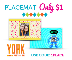 PERSONALIZED PHOTO PLACEMAT just $1 + 40 PRINTS FOR NEW USERS!