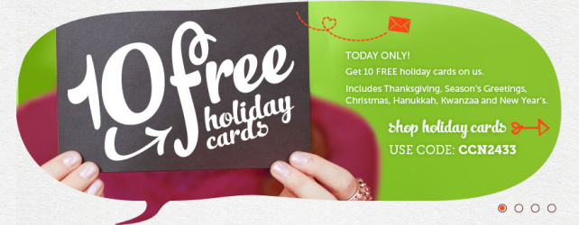 GET 10 FREE HOLIDAY CARDS + FREE SHIPPING FROM CARDSTORE – TODAY 11-8-2012 ONLY!!