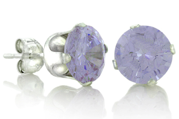 DARCUS TORI: 100% OFF ROUND LAVENDER ALEXZANDRITE STUD EARRINGS