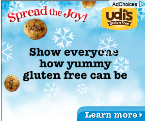 WIN HOLIDAY TREATS FROM UDIS GLUTEN FREE COOKIES!