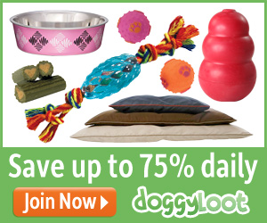 DOGGYLOOT DAILY DEALS = 75% OFF PET SUPPLIES DAILY + FREE SHIPPING