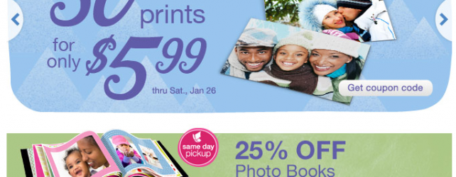 WALGREENS PHOTO DEALS THRU 1-31-2013
