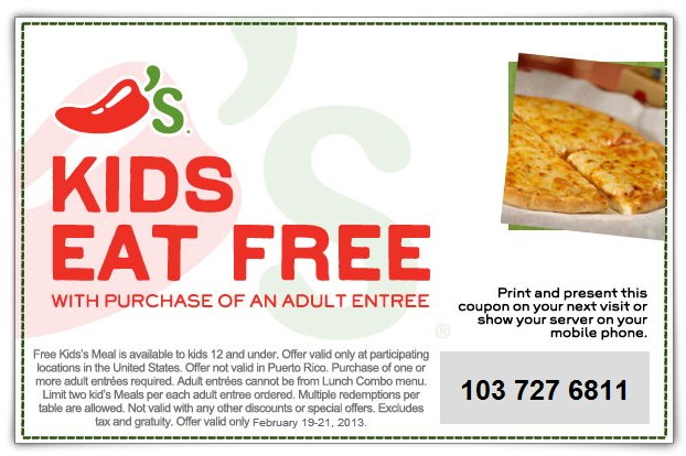 Coupons for chili's bar and grill