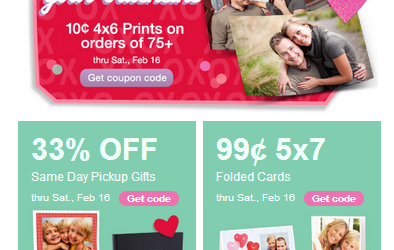 WALGREENS PHOTO DEALS THRU 2-16-2013