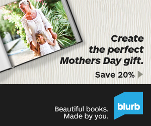 Blurb Mothers Day 20% Off Sale