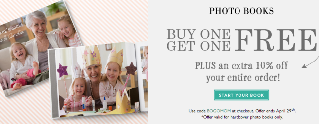 MyPublisher BOGO Free Photo Book + Canvas Mothers Day Deal