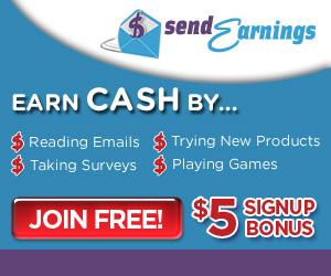 Earn Cash in many ways w/ SendEarnings