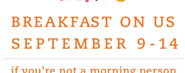 Free Breakfast at Chick-Fil-A ~ September 9 – 14, 2013