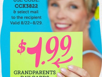 Grandparents Day Cards for only $1.99 at Cardstore!