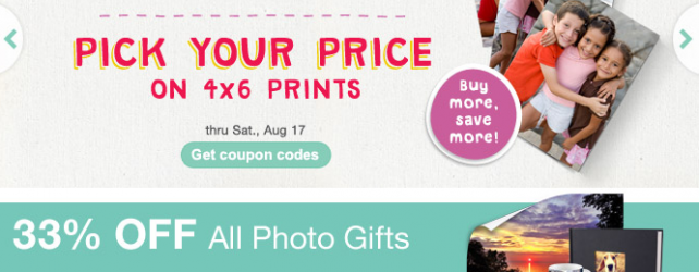 Walgreens Photo Deals + Coupon Codes thru 8-17-2013
