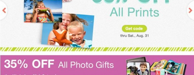 Walgreens Photo Deals + Coupon Codes thru 8-31-2013