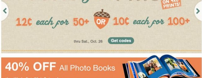 Walgreens Photo Deals + Coupon Codes thru 11-2-2013