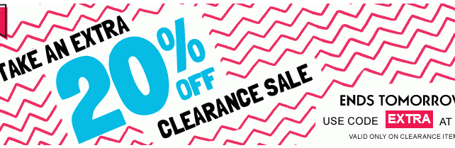 Old Navy 20% off clearance sale, online only!