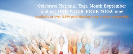 get free yoga classes at participating yoga studios