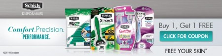 BOGO Schick Disposable Razors From Coupons.com