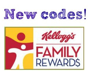 Current Rewards Codes on Kelloggs Family Rewards for July 28 2016!