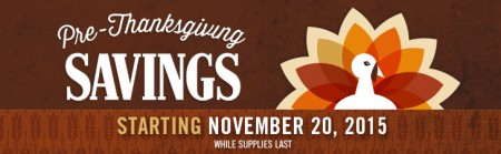 thanksgiving coupons