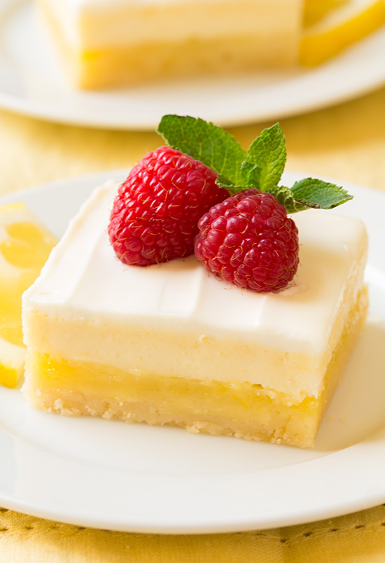 Springy Cheesecake Lemon Bars - Cooking on a Budget