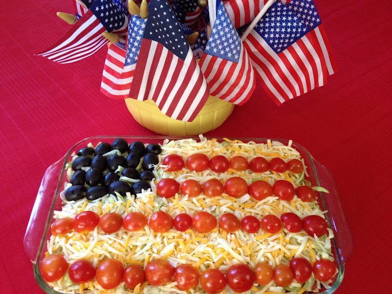 Memorial Day Flag Taco Salad Cooking On A Budget